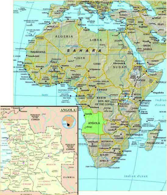 Africa---Angola-map