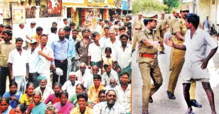 விவசாயிகளின் மீது தடியடி - ஜெயலலிதாவின் பேயாட்சி