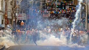 ஜூன் 20-ம் தேதி கால்பந்து மைதானத்தை முற்றுகையிட்ட மக்கள் - சல்வாடோர்.
