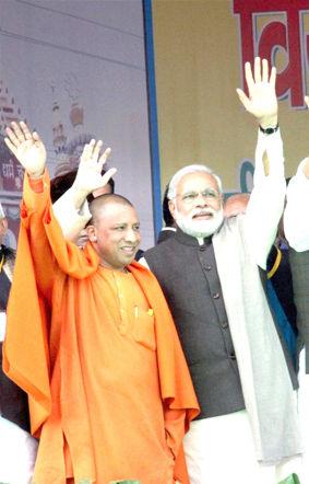 மோடி - ஆதித்யநாத்