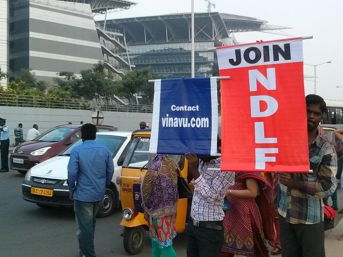 NDLF action in Chennai TCS (1)