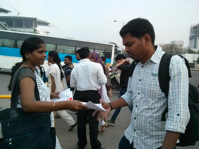 NDLF action in Chennai TCS (11)