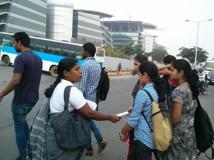 NDLF action in Chennai TCS (13)
