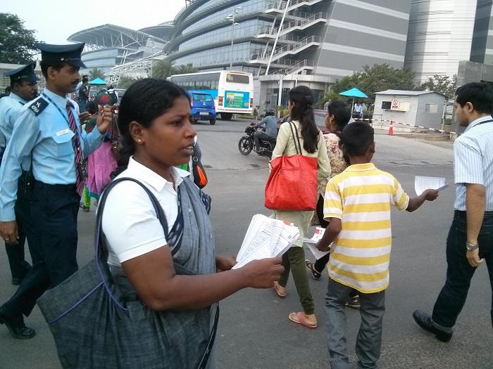 NDLF action in Chennai TCS (14)