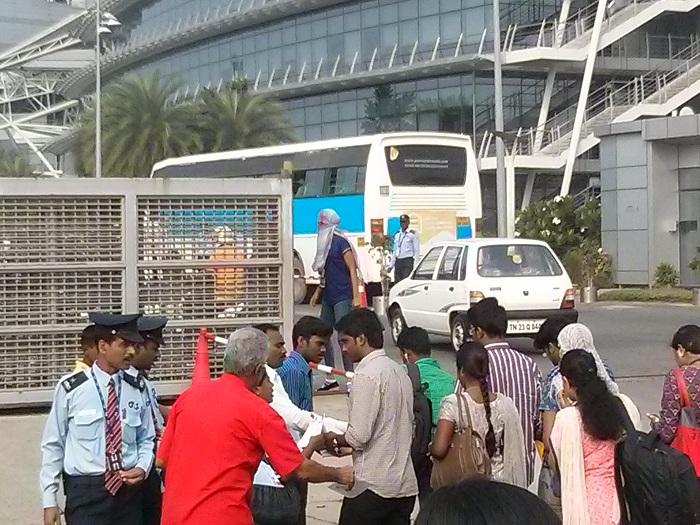 NDLF action in Chennai TCS (3)