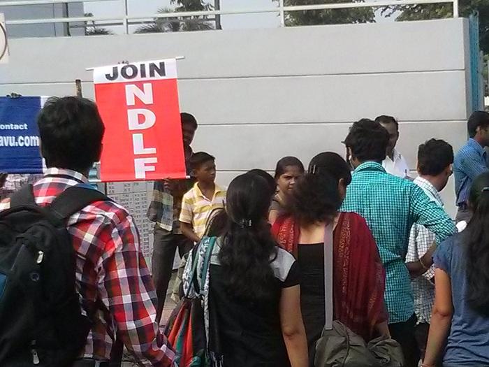 NDLF action in Chennai TCS (6)