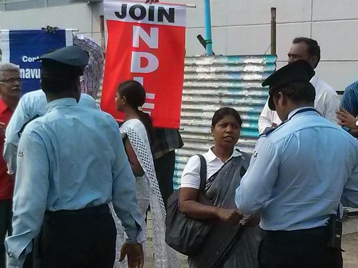 NDLF action in Chennai TCS (7)