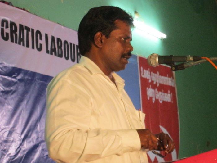 பு.ஜ.தொ.மு-வின் மாநில பொருளாளர் விஜயகுமார்