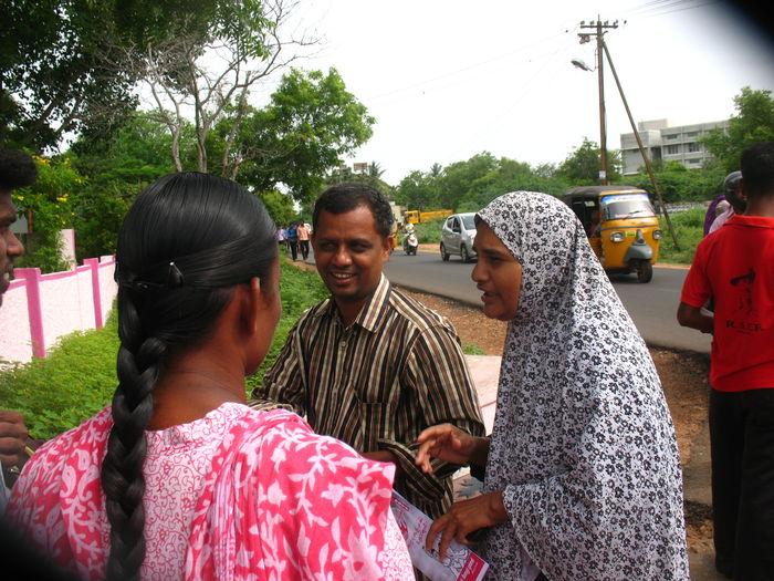 பு.மா.இ.மு கல்லூரி மாணவர்களுக்கு வரவேற்பு