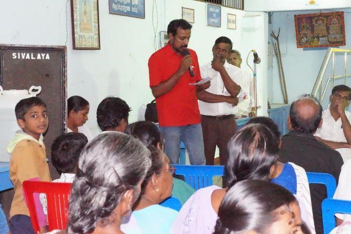 ம.க.இ.கவின் பொருளாளர் தோழர் சரவணன்