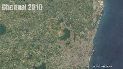 2010-ல் பசுமையை அழித்து விட்டு நகரம் 'வளர்கிறது'.