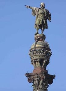 ஸ்பெயின் பார்சிலோனாவில் அமைந்துள்ள கொலம்பஸ் உருவ சிலை