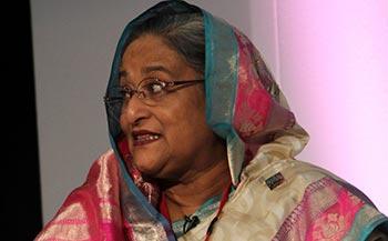 வங்கதேசப் பிரதமர் ஷேக் ஹசீனா.