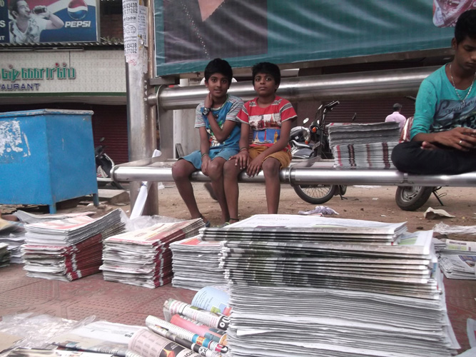 Barath with brother