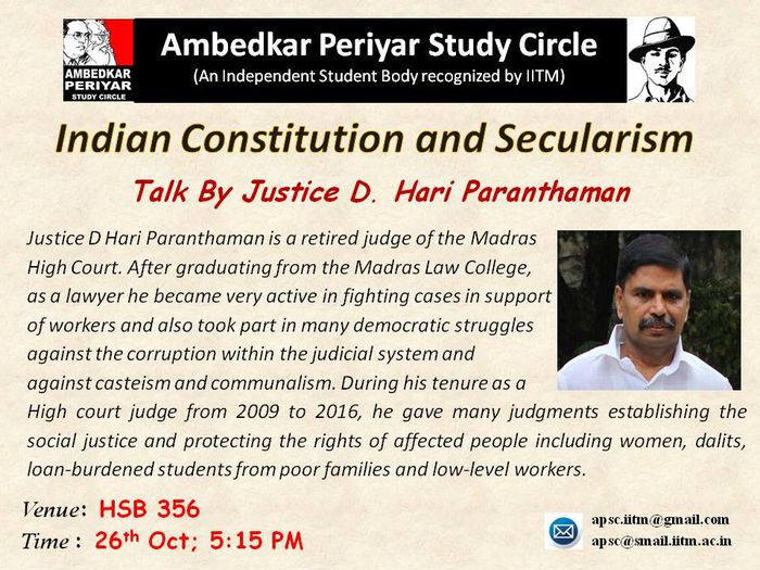 Indian constitution and secularism