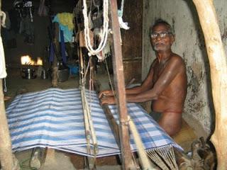 லுங்கி நெசவுத் தொழிலாளி விளக்கப்படம்