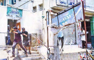 காஞ்சிபுரம் பேருந்து நிலையத்திற்கு அருகிலிருக்கும் டாஸ்மாக் கடையை அடித்து நொறுக்கும் பொதுமக்கள்