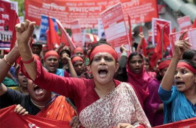 bangaladesh workers protest