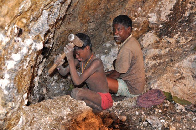 Mica-mining
