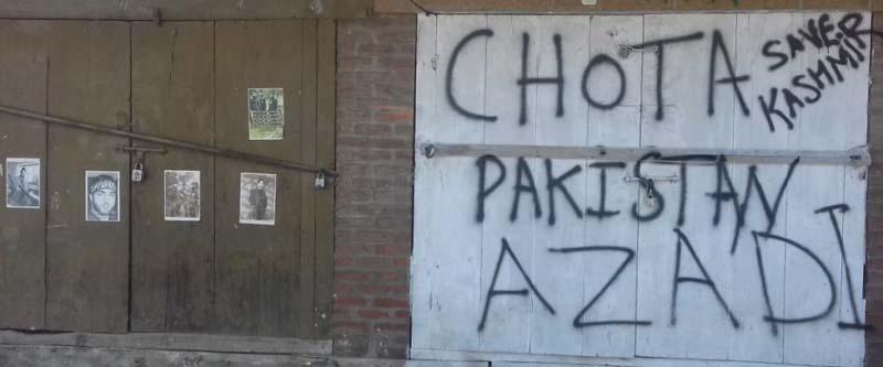 Kashmir Graffiti in Anchar Kashmir