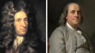 Benjamin_Franklin-Daniel_Defoe-political-economy